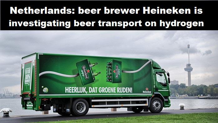 Waterstofmagazine: Bierbrouwer Heineken onderzoekt biertransport op waterstof.